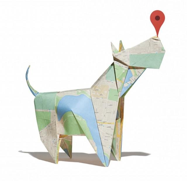 Google Maps折纸