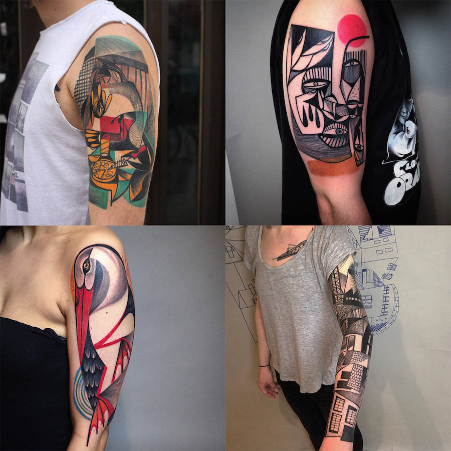 cubist tattoos|文艺范儿